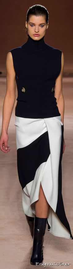 VB Sleeveless top and pieced skirt | Black and white