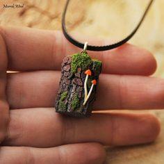 Mushroom necklaceforest jewelrywoodland jewelrystupm