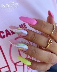 Sassy Nails, Love Nails, Cute Acrylic Nails, Acrylic Nail Designs, Stylish Nails, Trendy Nails, Indigo Nails, Nagel Gel, Purple Nails