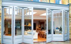 Bi-fold doors can be a modern, but traditional addition to a period home.