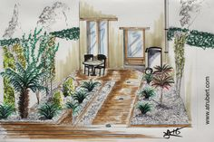 199 Meilleures Images Du Tableau Dessin Jardin Architecture
