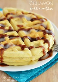 I usually get one request for breakfast from my family, and that's waffles. I like to make them from scratch, and sometimes use the handy box of Bisquick.   I loved these Cinnamon Roll Pancakes so much, that I decided to do the same thing with our beloved waffles! These waffles are a little easier... Read More »
