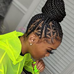 braids in braids wigs for black men, braids styles images, crochet braids hairstyles braids audlem post, jumbo bob box braids hairstyles, kanekalon braids crochet Black Girl Braided Hairstyles, Braided Ponytail Hairstyles, Black Girl Braids, African Braids Hairstyles, Braids For Black Hair, Girls Braids, Black Women Hairstyles, Weave Hairstyles, Hairstyles 2018