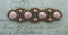 """I've blogged many times about this pattern which is really called """"Canterbury Bracelet"""". It's one of my all-time favorite bracelet patterns...."""