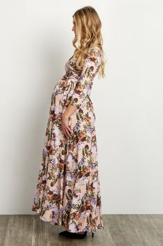 Pink-Floral-Sash-Tie-Wrap-Dress
