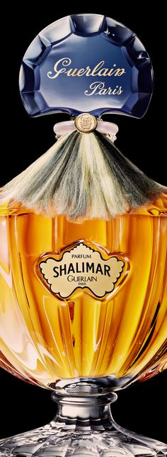 """Shalimar, Guerlain  """"The legend of Shalimar -  Four centuries ago, in India, the Emperor Shah Jahan fell deeply in love with the Princess Mumtaz Mahal. For her, he created the splendid gardens of Shalimar, and dedicated to her, the Taj Mahal. This incredible love story was Jacques Guerlain's inspiration for the first oriental fragrance ever made: the mythic Shalimar."""""""