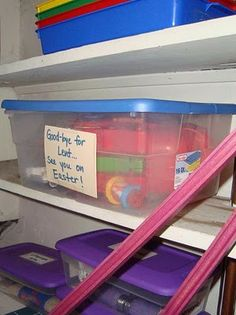 Sacrifice box - every family member puts something in that they're giving up for Lent. (Little kids can put in toys, big kids can put in mp3 players, adults can put in credit cards, etc.)