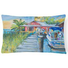 Carolines Treasures Deep Sea Fishing Boat at Lulus Rectangle Decorative Pillow - JMK1050PW1216