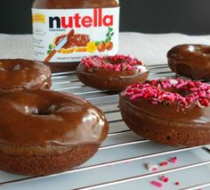 Baked Nutella Donuts . life changing nutella recipes
