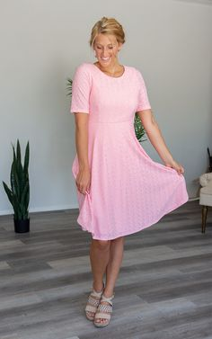 The Belle -Pink – Mountain Aire Boutique Pink Mountains, Pink Sale, Eyelet Dress, Boutique Clothing, Short Sleeve Dresses, Skirts, Sleeves, Fabric, How To Wear