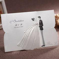 White Ribbon Bride And Groom Wedding Invitations Itsinvitation Invitation Pinterest Brides