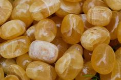 Small Honey Calcite Tumbled Stone from Mexico