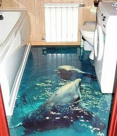 1000 images about 3d effects on pinterest 3d street art for Awesome bathroom 3d floor designs