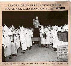 This is MARGARET SANGER, ICON of the liberal democrats and the FOUNDER of planned parenthood - the butcher and slaughter factories in every inner city that FOCUSES it's attention on BLACKS!