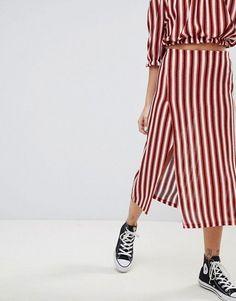 Pull&Bear stripe co-ord midi skirt In multi at ASOS. Floral Dress Outfits, Dresses, Summer Outfits, Summer Clothes, Co Ord, Midi Skirt, Asos, Bear, Clothes For Women