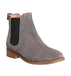 Office Bramble Chelsea Boots Grey Suede Ankle