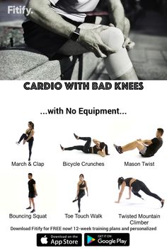 Cardio with Bad Knees without Equipment
