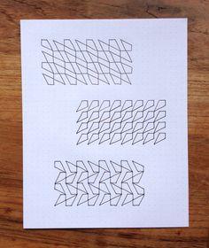 Geometriquilt: Sunday sketch #12-3