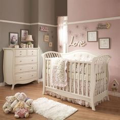 Natart Bella/Chloe Nursery Crib and Dresser