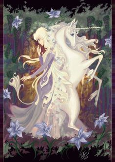 The Last Unicorn - bought extra copies of this for my sisters, signed and all ha. - The Last Unicorn – bought extra copies of this for my sisters, signed and all ha – total nostal - Fantasy Unicorn, Unicorn Art, Unicorn Drawing, Magical Creatures, Fantasy Creatures, Fantasy World, Fantasy Art, Film Manga, Art Magique