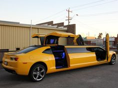 Camaro Bumblebee Transforms into Limo - just thought this one was too cool not to post although not something I aspire to own :-)