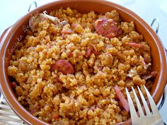 36 Ideas For Recipes Healthy Crockpot Pasta Food N, Good Food, Food And Drink, Migas Thermomix, Mutton Meat, Risotto, Cuisine Diverse, Spanish Dishes, Spanish Cuisine