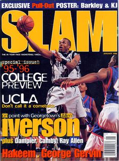 SLAM 9: Georgetown Hoya Allen Iverson appeared on the cover of the ninth issue of SLAM Magazine (1996, cover 1 of 2).