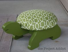 childs turtle stepstool, no instructions here to make it but I don't think it would be too hard: