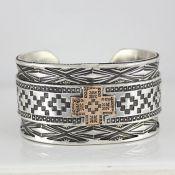 Men's18K Gold and Sterling Bracelet By Barry Petri