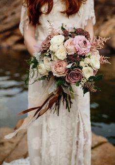 Свадебные букеты с розами / невесты