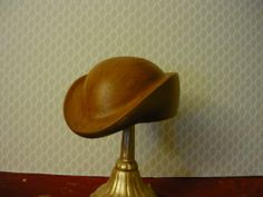 French Millinery wooden hat block/ mold