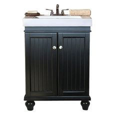This contemporary bathroom vanity are simple and yet stylish, constructed of kiln dried solid poplar wood frame. There are 2 soft close door and a solid wood drawer that yield extra storage. The modern looking vanity porcelain top has an integrated sink, for easy cleaning and scratch free. The single faucet hole are for faucet installation. The faucet shown are not included.