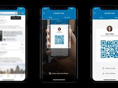 Can LinkedIn finally kill the business card with new mobile app QR codes? Qr App, Qr Code App, Qr Codes, App Ui Design, Mobile App Design, User Interface Design, Scan App, Qr Code Business Card, Id Card Design
