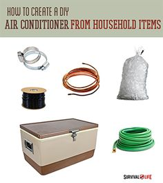 DIY Air Conditioner From Household Items | Instructions from #survivallife www.survivallife.com