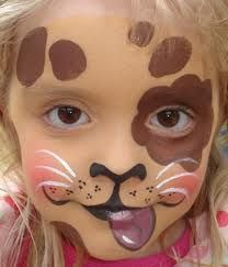 Dog Face painting-puppy theme for Kyla's bday next week, might try some face painting for kids!