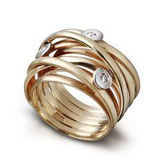 Image result for chunky bezel set diamond ring