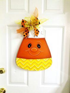 Halloween/Fall/candy corn door hanger