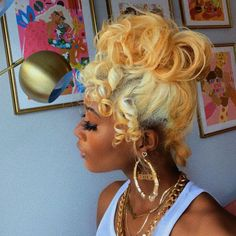 Weave Ponytail Hairstyles, Baddie Hairstyles, Black Girls Hairstyles, Pretty Hairstyles, 3b Hairstyles, Hairstyle Ideas, Hair Ideas, Dyed Natural Hair, Dyed Hair