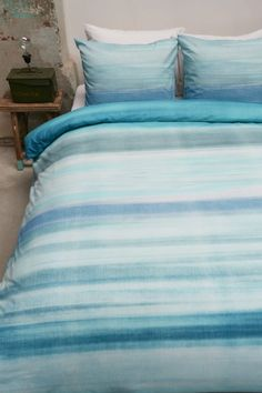 Bedding Gibson - Aqua Blue for your bedroom. Made in Netherlands.