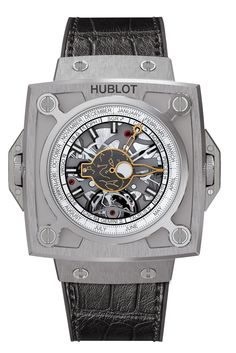 """Hublot Genève's Masterpiece (MP) Watch Collection - """"Long known for its Big Bang, Classic Fusion and King Power models, Hublot's unique MP collection was first unveiled at the Geneva Trade Show in January 2011 with the introduction of the """"MP-01."""" These record-breaking pieces are made possible by a team of 30 developers and engineers devoted entirely to grand complications and extraordinary movements..."""