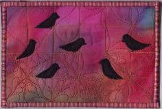 This is another postcard from Gwen Gwinner.  Her satin stitching is just perfect on all of her cards.