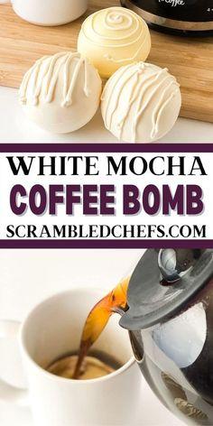 Hot Chocolate Gifts, Chocolate Bomb, Hot Chocolate Bars, Hot Chocolate Recipes, Chocolate Coffee, Cocoa Recipes, Coffee Recipes, Candy Recipes, Bomb Drinks