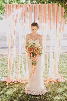 Ideas de photocall de boda romanticos