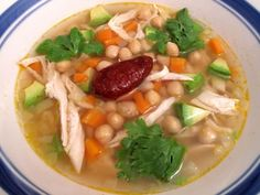 This delicious authentic Mexican soup recipe is a joy to make and very enjoyable to eat. Caldo tlalpeno soup is typically Mexican and it is a heavenly combination of chicken, beans, avocado, vegetables, chicken broth and more. The chipotle chili in adobe gives the soup a smoky, fiery flavor and the avocado cools it down a bit, providing a welcome contrast.