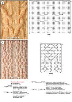 Мотивы и схемы для вязания на спицах. Страница №72.