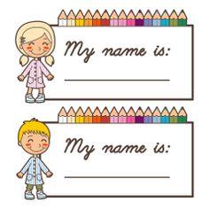 ... Name Tags on Pinterest | School Name Tags, Superhero Kids and Name
