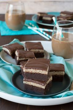 Layered Mocha Mousse Brownies