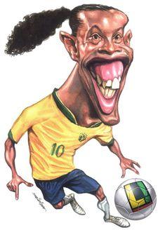 caricaturas | história da caricatura » Caricaturas-de-Jogadores-Ronaldinho ...
