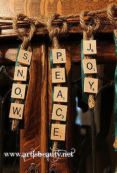 got some old scrabble tiles come on over and find out how to make them into, christmas decorations, crafts, seasonal holiday d cor
