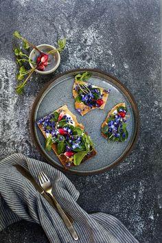 Edible Flowers: Goat Cheese Lavash | Rue
